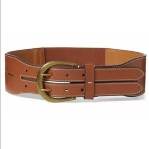 NWT Ralph Lauren Wide Riding Leather Stretch Belt